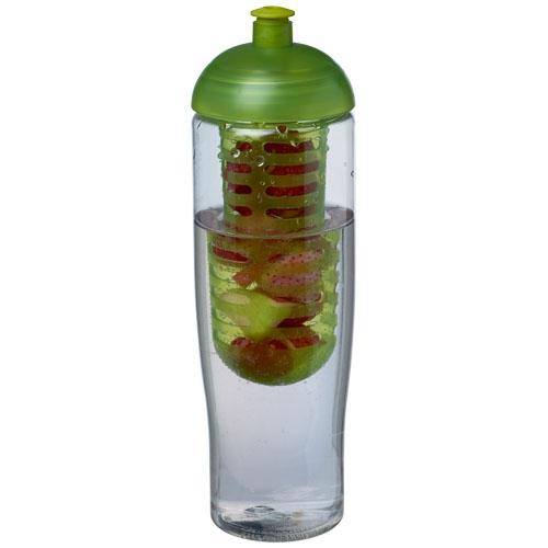 Bouteille de sport publicitaire et infuseur H2O Tempo® 700 ml avec couvercle dôme - violet