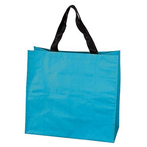 Sac Shopping publicitaire pp tisse Dora - cabas de course publicitaire turquoise
