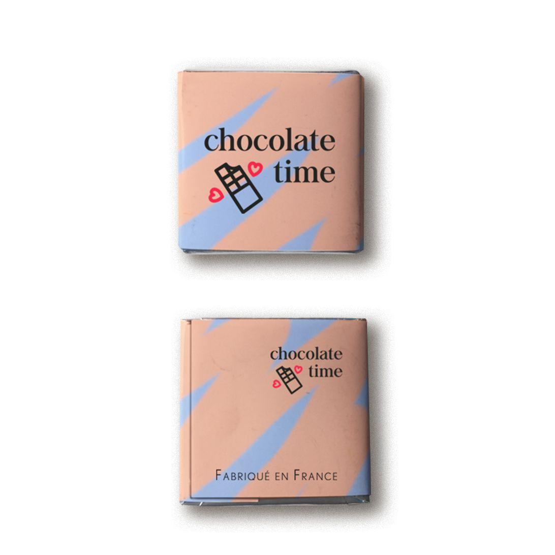 Carré de chocolat avec emballage personnalisé - verso