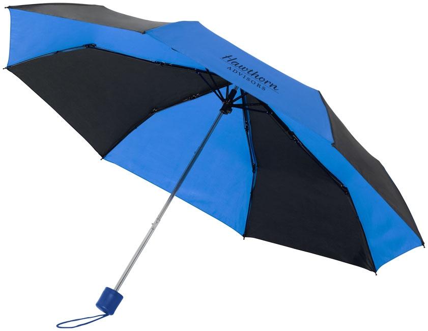 """Parapluie publicitaire 2 tons 21"""" Spark bleu et noir"""