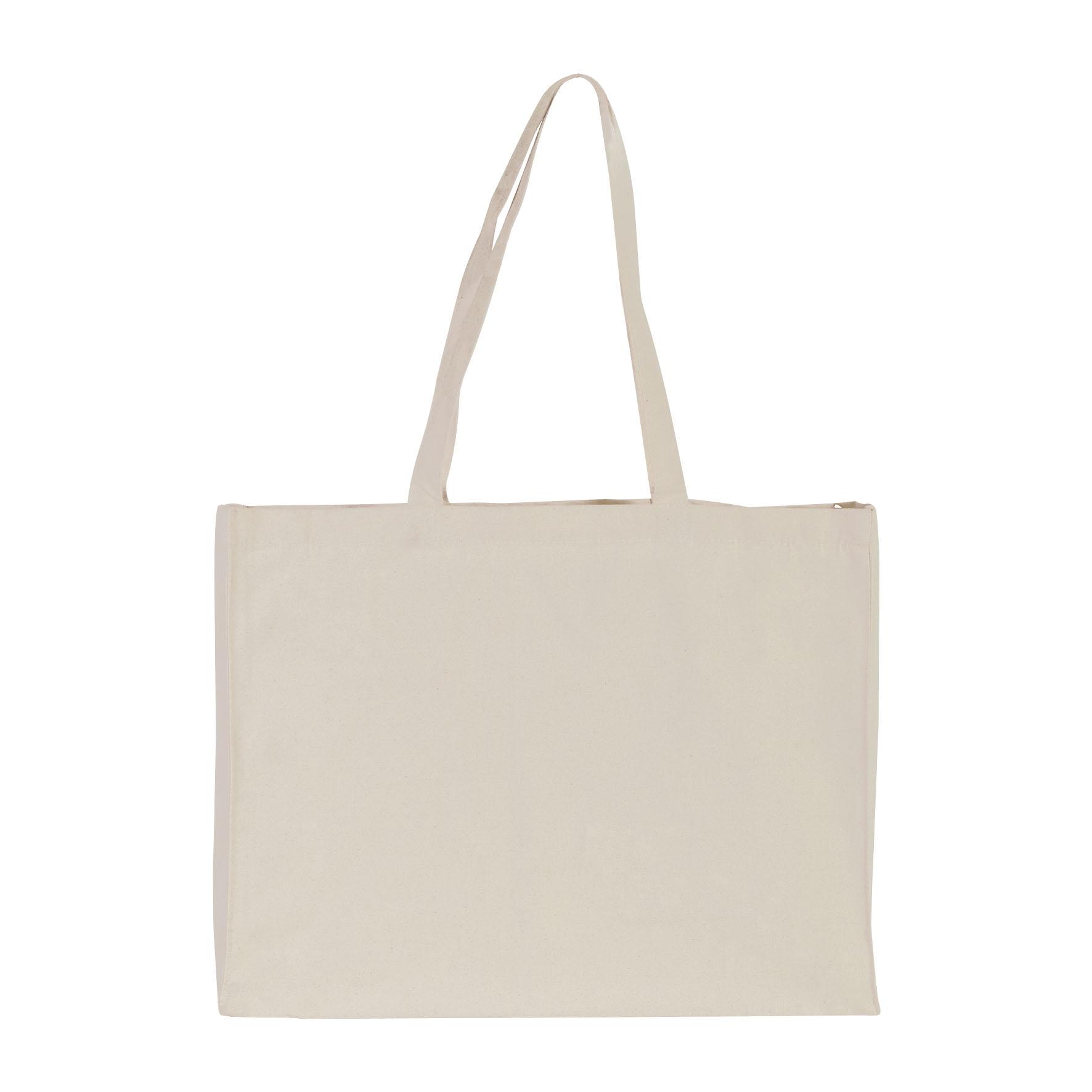 Sac shopping publicitaire coton canevas Large - Cadeau promotionnel
