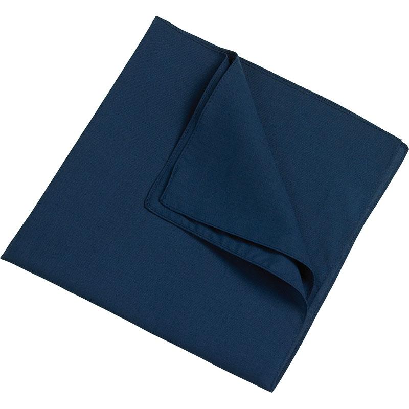Foulard promotionnel Denis bleu - foulard personnalisable