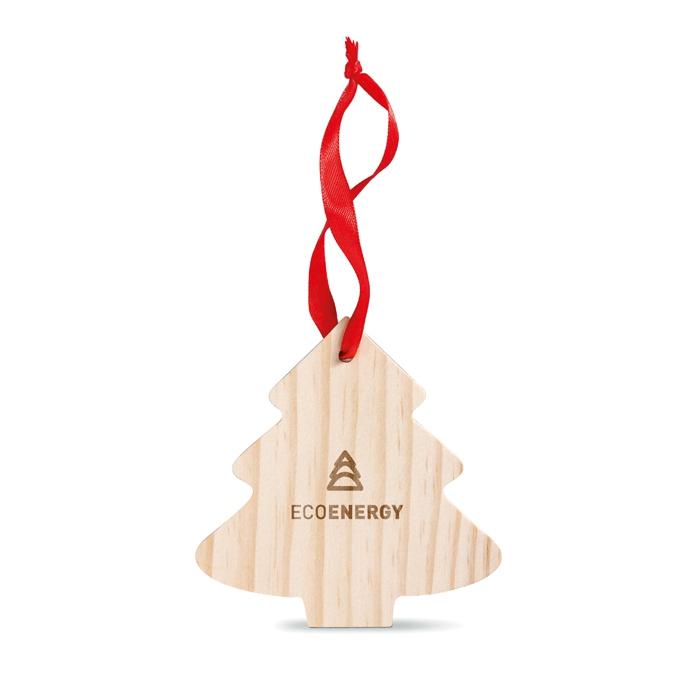 Goodies Noël - Sapin en bois personnalisé à accrocher Wootree