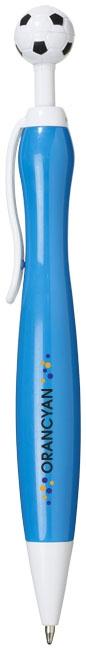Stylo à bille publicitaire ballon de football Naples bleu