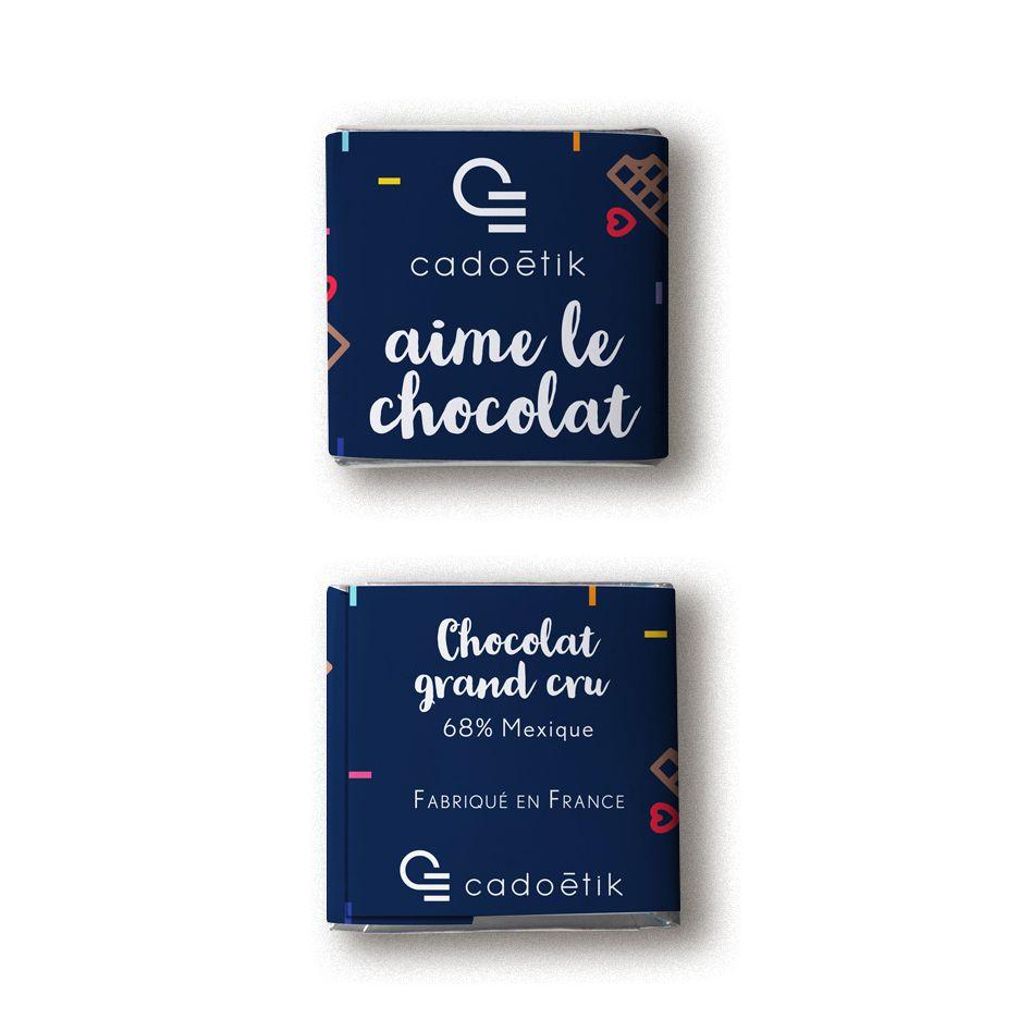 Chocolat publicitaire - Carré de chocolat avec emballage personnalisé