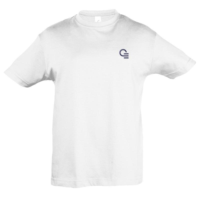 tee-shirt publicitaire pour enfant Regent blanc