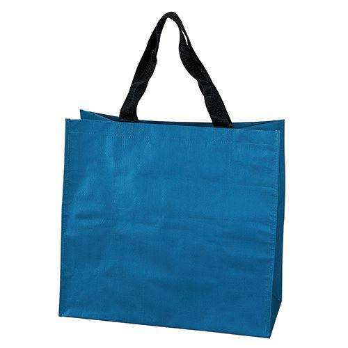 Sac Shopping personnalisé pp tisse Dora - cabas de course publicitaire bleu