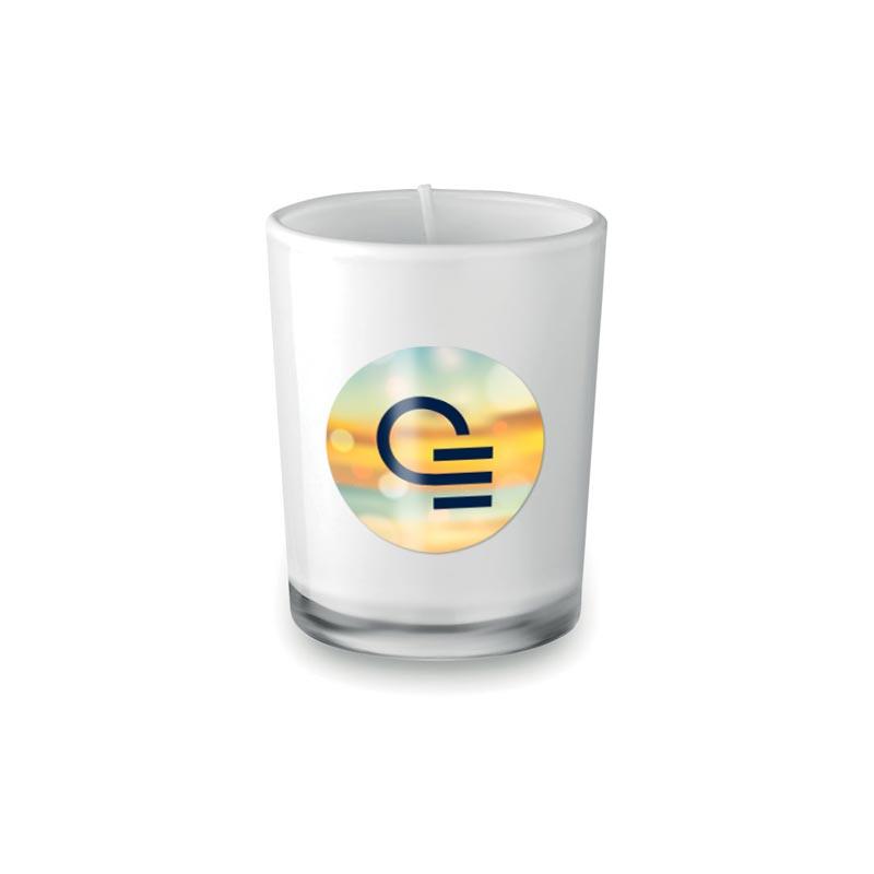Bougie parfumée personnalisée dans un verre Selight
