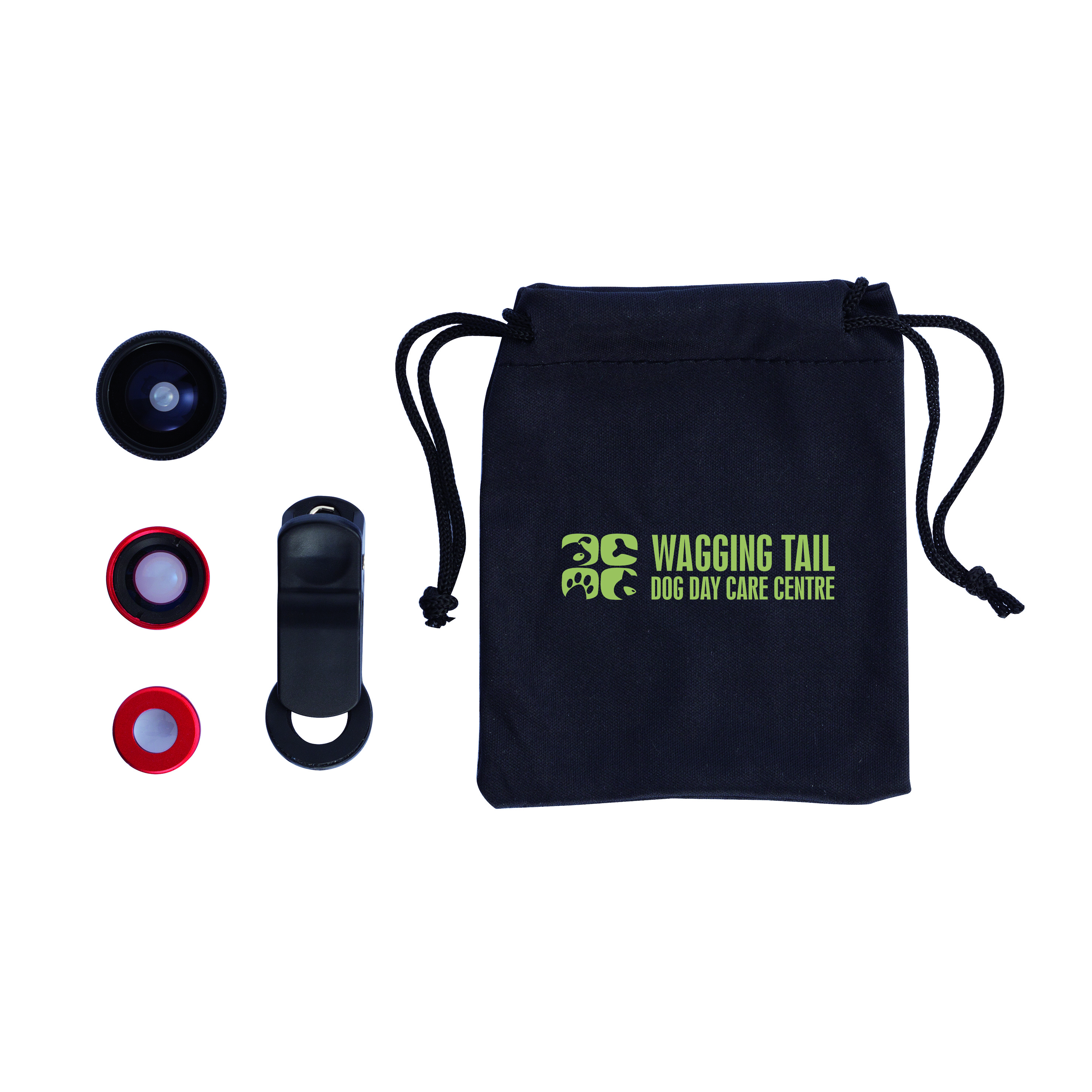 Accessoire publicitaire pour téléphone portable - Set 3 pièces pour caméra téléphone portable