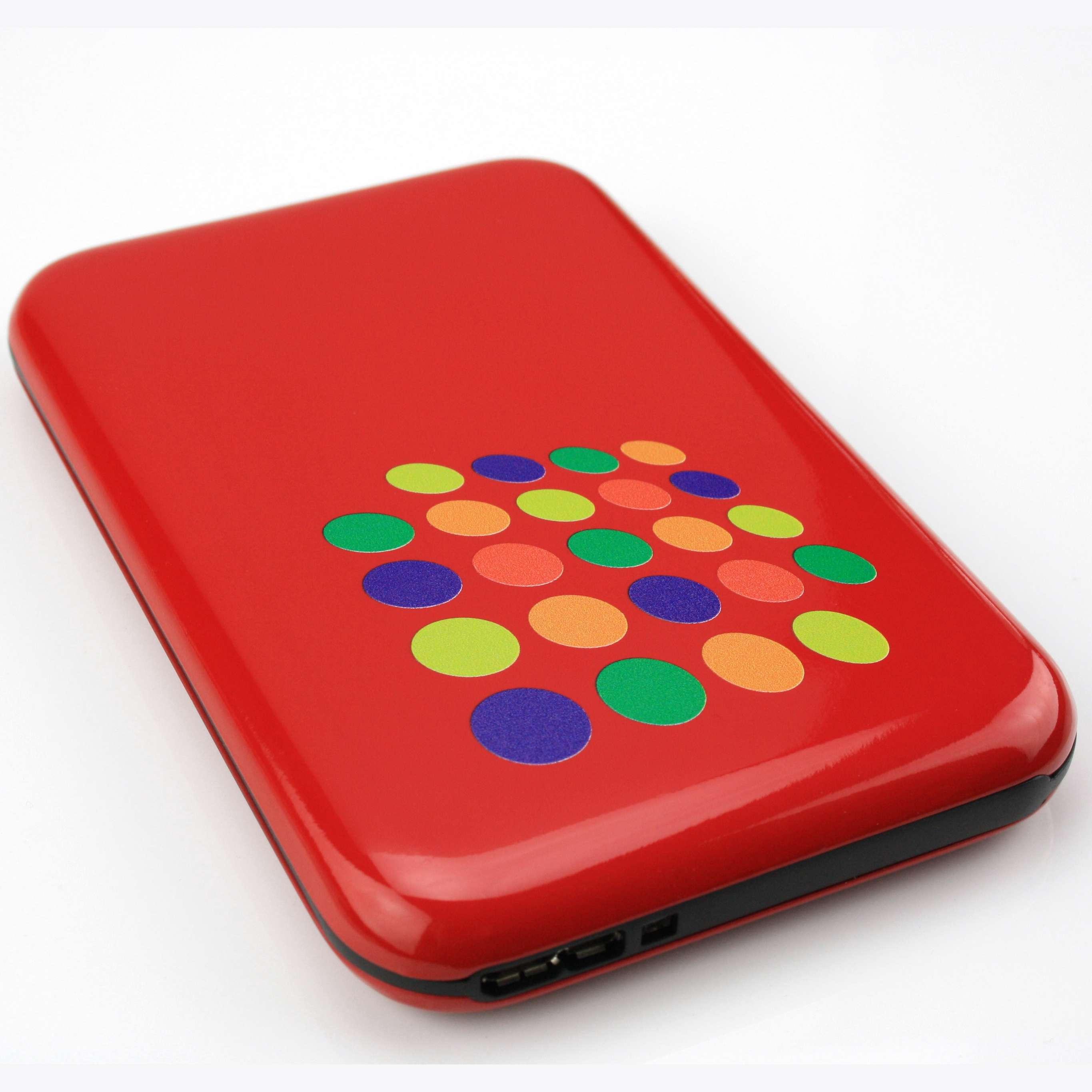 Disque dur publicitaire externe HDD rouge - cadeau d'entreprise
