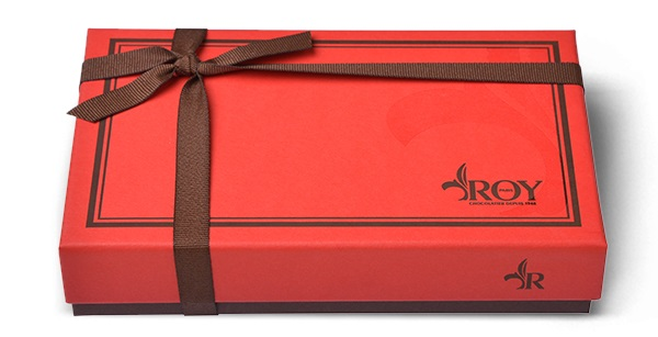 Cadeau publicitaire de fin d'année - Boîte de chocolats carrés Roy 340 g