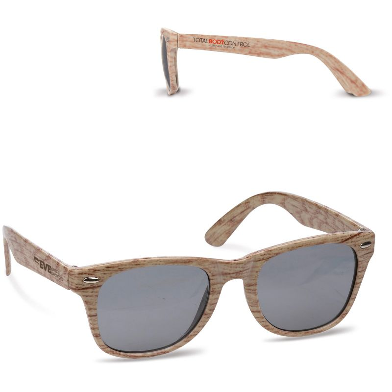 Goodies - Lunettes de soleil publicitaires aspect bois Malou