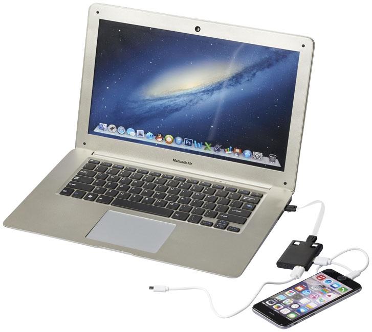Hub publicitaire USB avec cables 3 en 1 Skilled - objet personnalisé