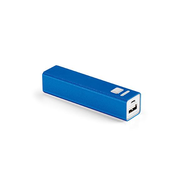 Batterie de secours personnalisable Pure II bleue - powerbank publicitaire