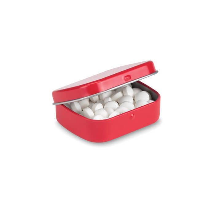 Boîte de bonbons menthe Brise ouverte