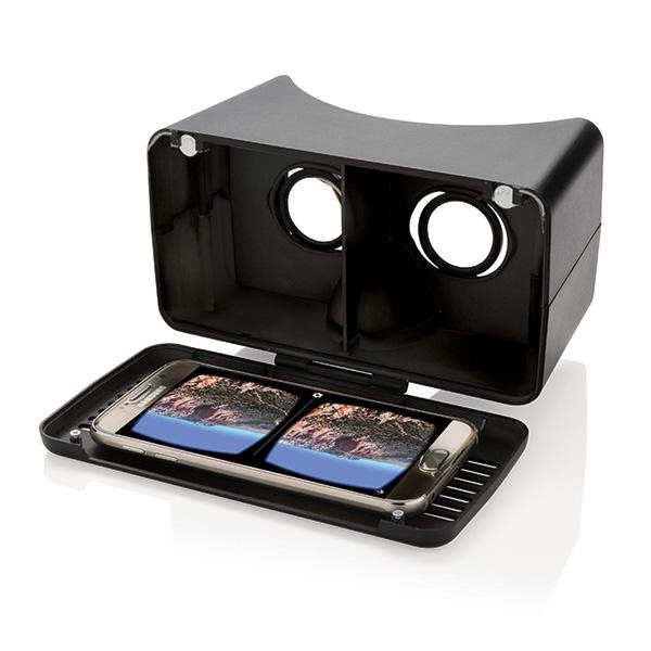 Lunettes de réalité virtuelle publicitaires RV noir - cadeau d'entreprise high-tech