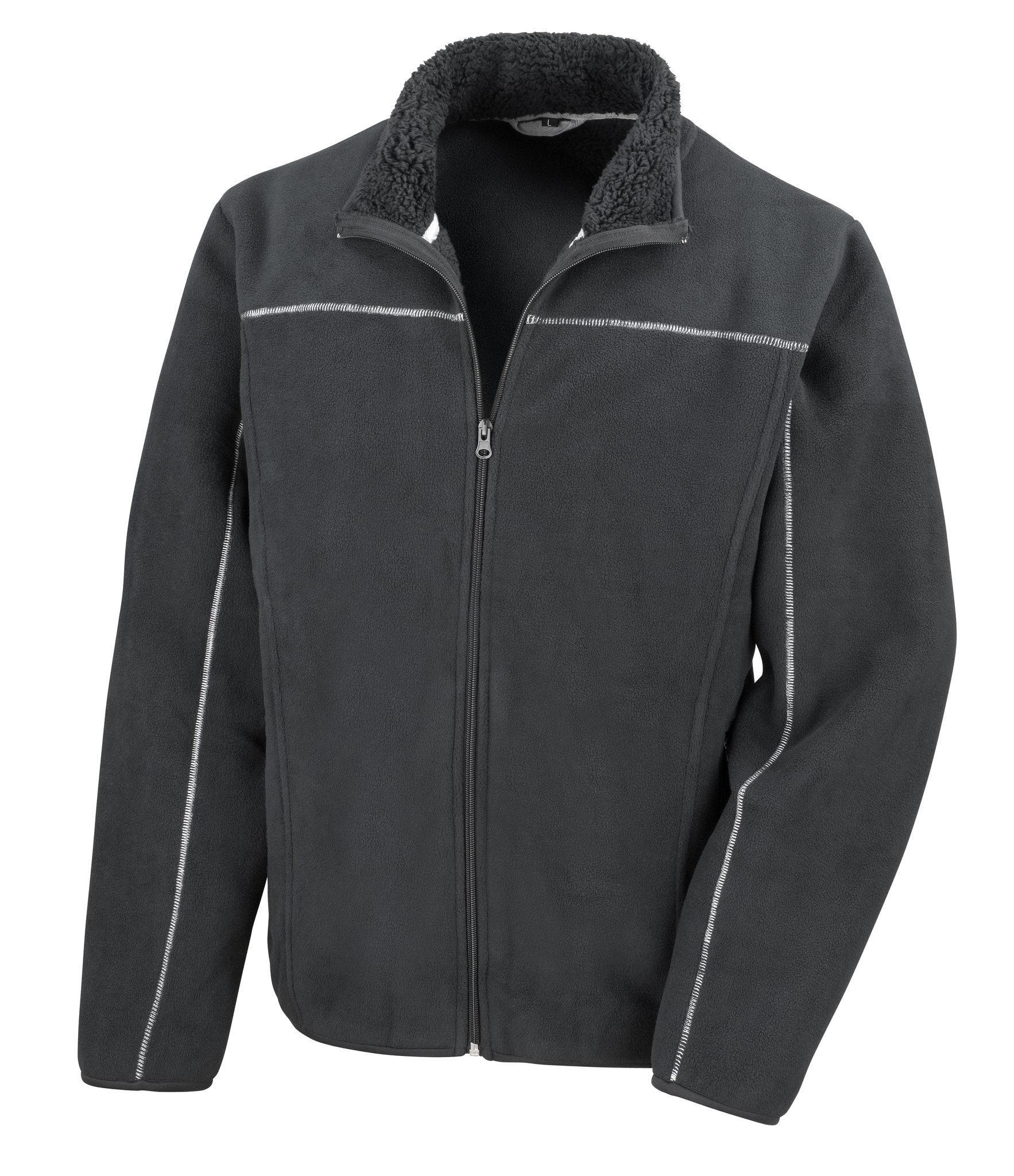 Veste polaire promotionnelle Huggy noire - veste polaire publicitaire