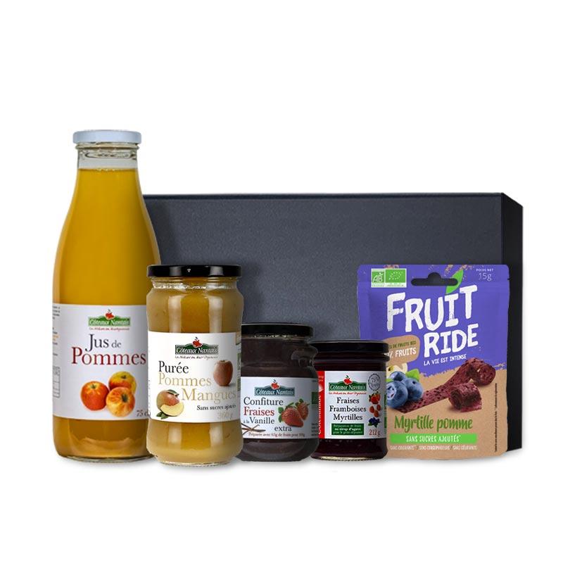 Panier gourmand bio 5 saveurs fruitées