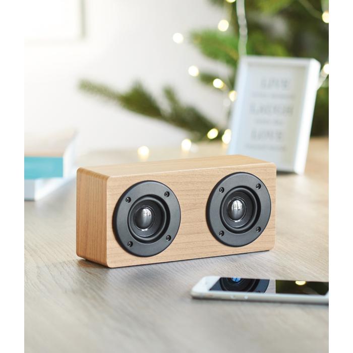 Haut-parleur publicitaire Bluetooth 2x3W Sonictwo - Cadeau d'entreprise de fin d'année