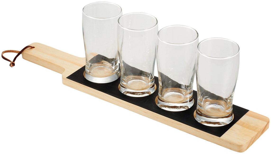 Cadeau d'entreprise écologique - Plateau publicitaire et verres Cheers