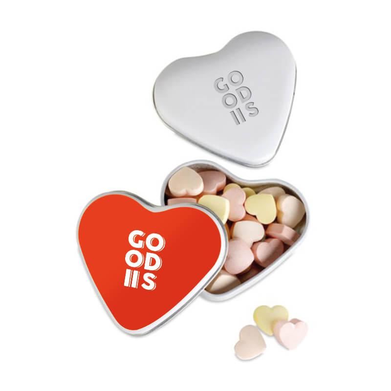 Cadeau d'entreprise Fête des mères - Boîte coeur avec bonbons