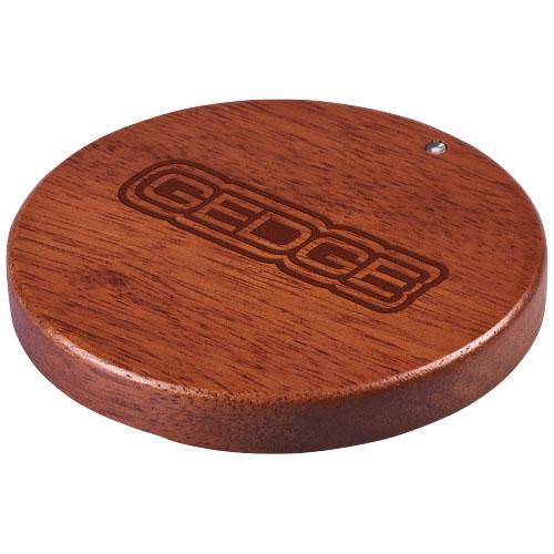 chargeur smartphone sans fil publicitaire - chargeur à induction personnalisable bois Bora