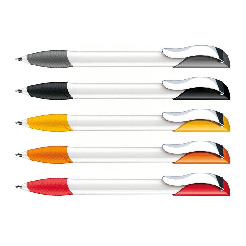 Stylo bille publicitaire Hattrix Polished Basic Soft Basic Clip métal - stylo personnalisable