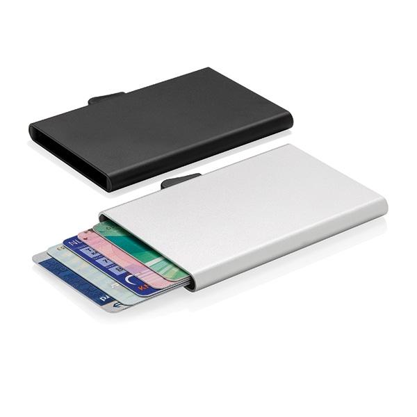 Porte-cartes personnalisé en aluminium anti-RFID C-Secure Trust - Objet publicitaire