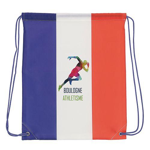 objet publicitaire - gymbag publicitaire drapeau France