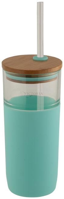 Mug publicitaire en verre Arlo couleur menthe
