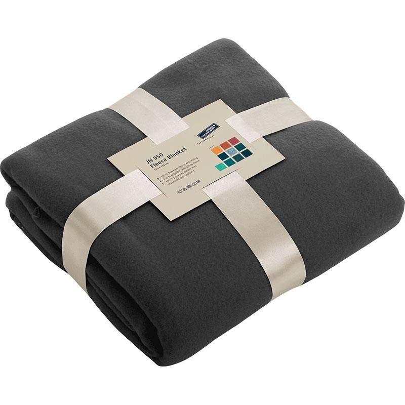 Cadeau d'entreprise - Couverture polaire publicitaire Cocoon - gris