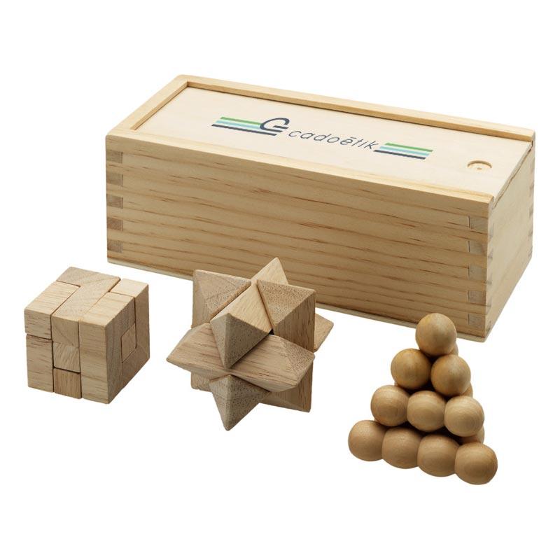 Jeu publicitaire personnalisé en bois - Cadeau d'entreprise de fin d'année