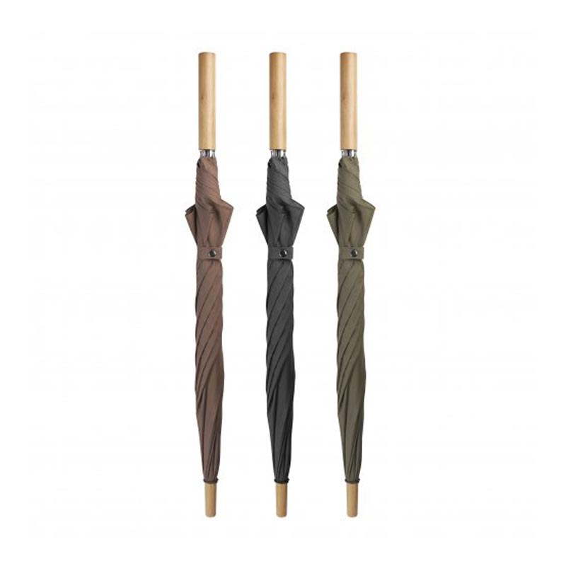 parapluies publicitaires en PET Lockwood - marron noir vert