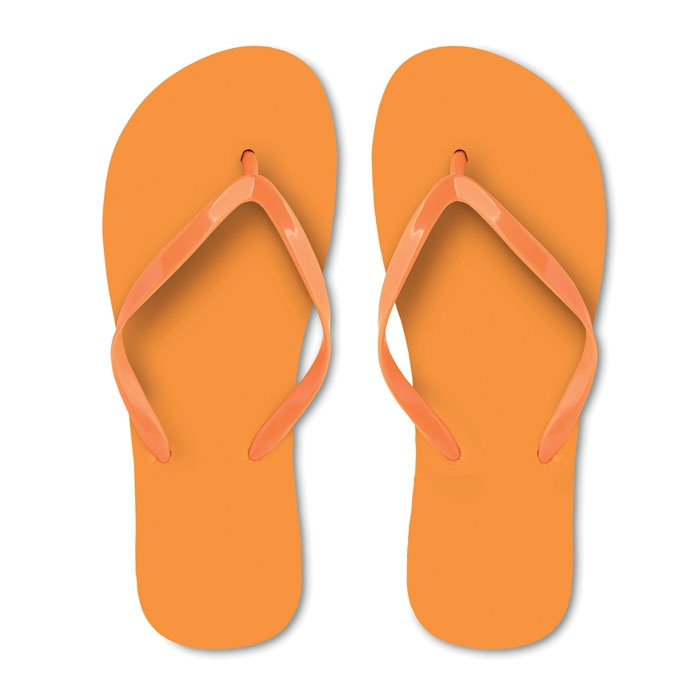 Tongs publicitaires - orange