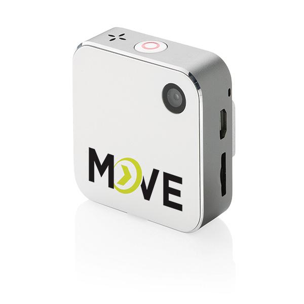 Cadeau d'entreprise - Petite caméra d'action personnalisée avec Wi-Fi Bond