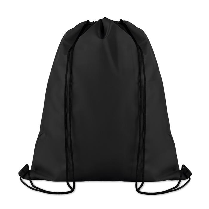 Gymabg personnalisé avec poche pocket Shoop noir - cadeau publicitaire