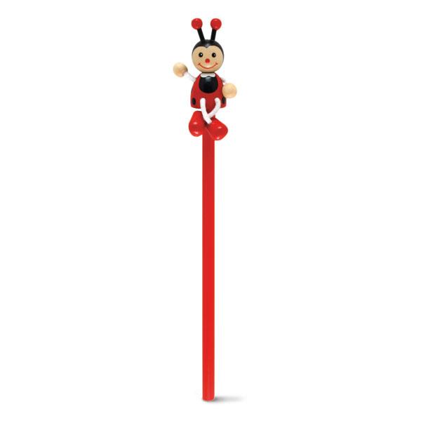 Crayon à papier publicitaire Toys coccinelle - crayon à papier personnalisable
