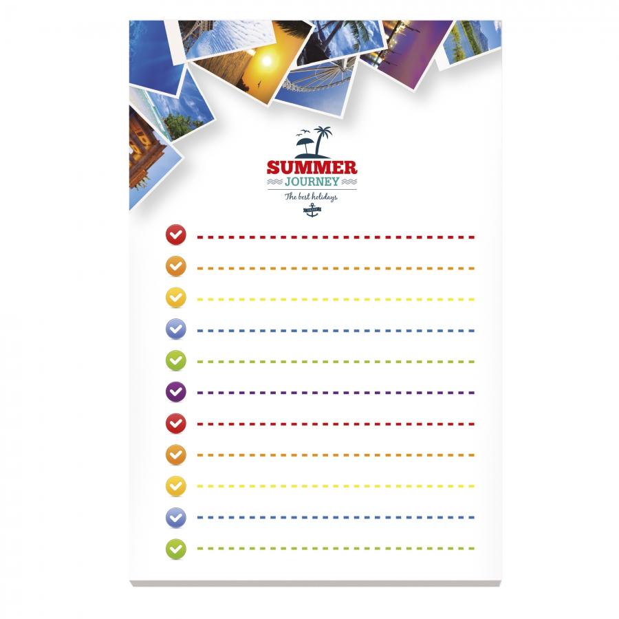 Bloc-notes publicitaire recyclé  BIC® 101 x 152 mm - cadeau promotionnel écologique
