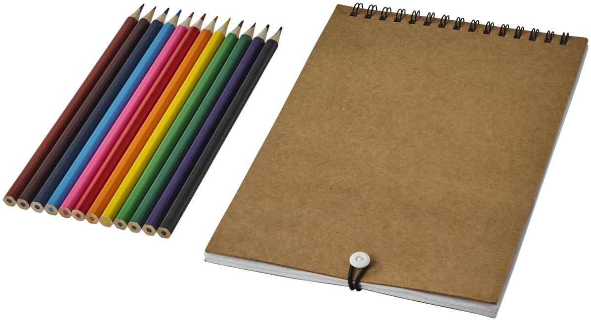 Set de coloriage Claude - carnet publicitaire
