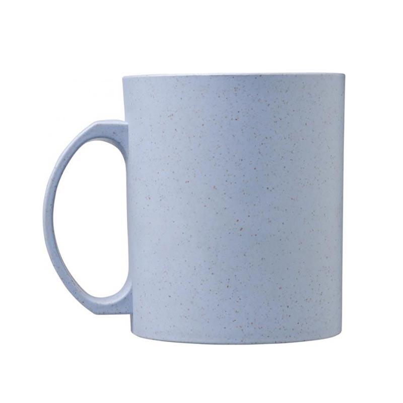 Mug réutilisable en fibres de paille de blé Pécos avec logo