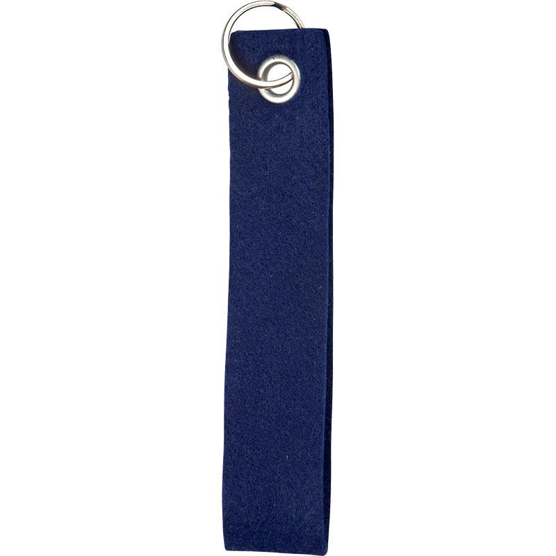 Porte clés personnalisable en feutrine Funloop - jaune