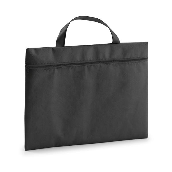 Porte-documents publicitaire écologique Slimy noir - cadeau publicitaire
