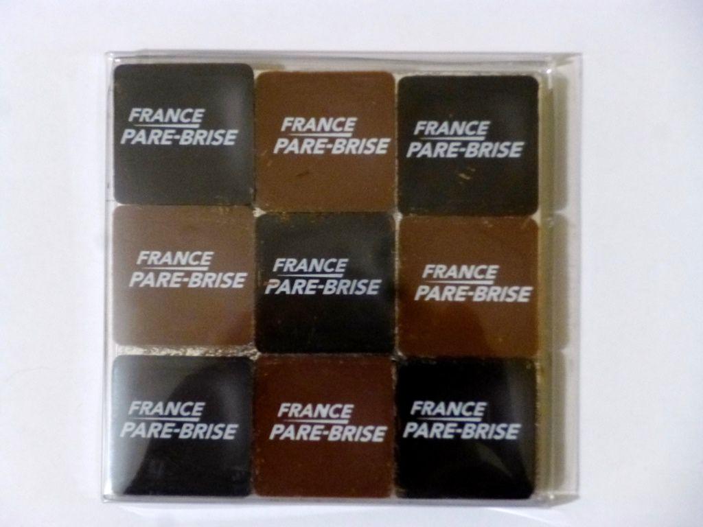 Carrés de chocolat à personnaliser - Idée de cadeau d'entreprise