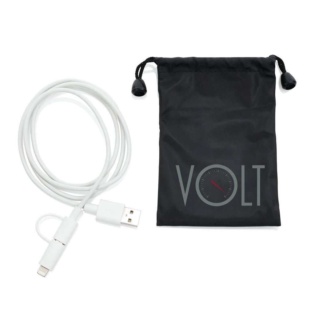 Câble de chargement personnalisable 2 en 1 avec connecteur Apple Lightning