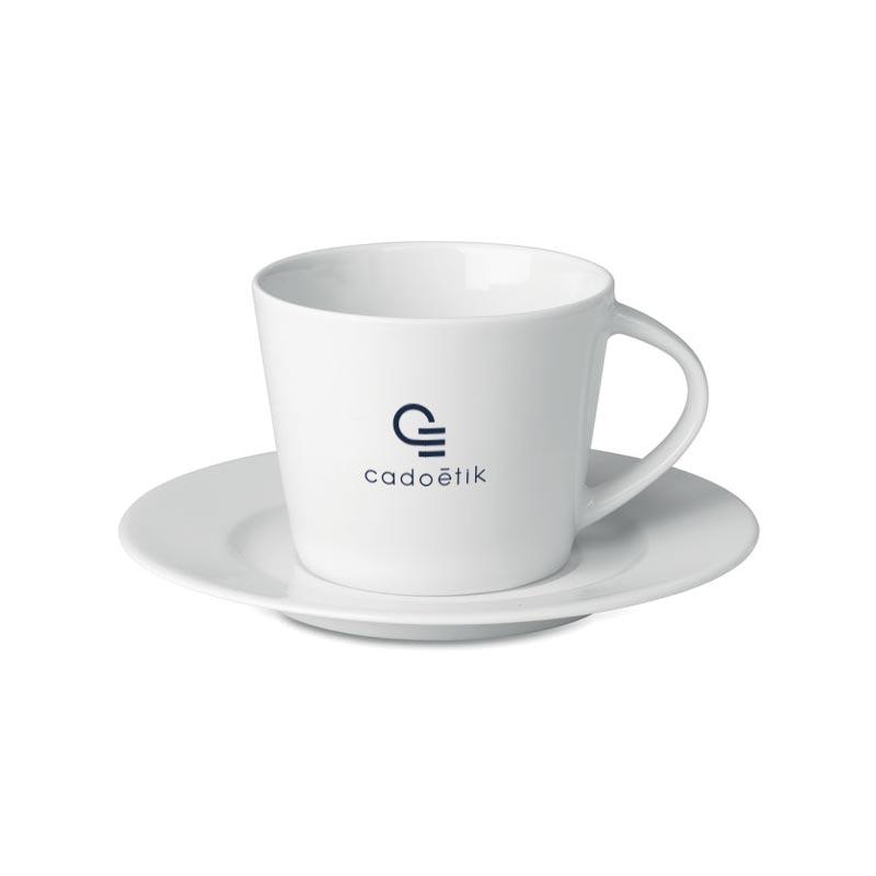 Tasse publicitaire et soucoupe Cappuccino Paris