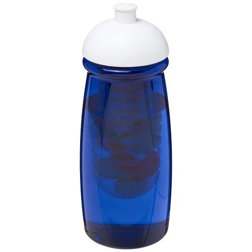 Gourde sport publicitaire et infuseur H2O Pulse® 600 ml avec couvercle dôme