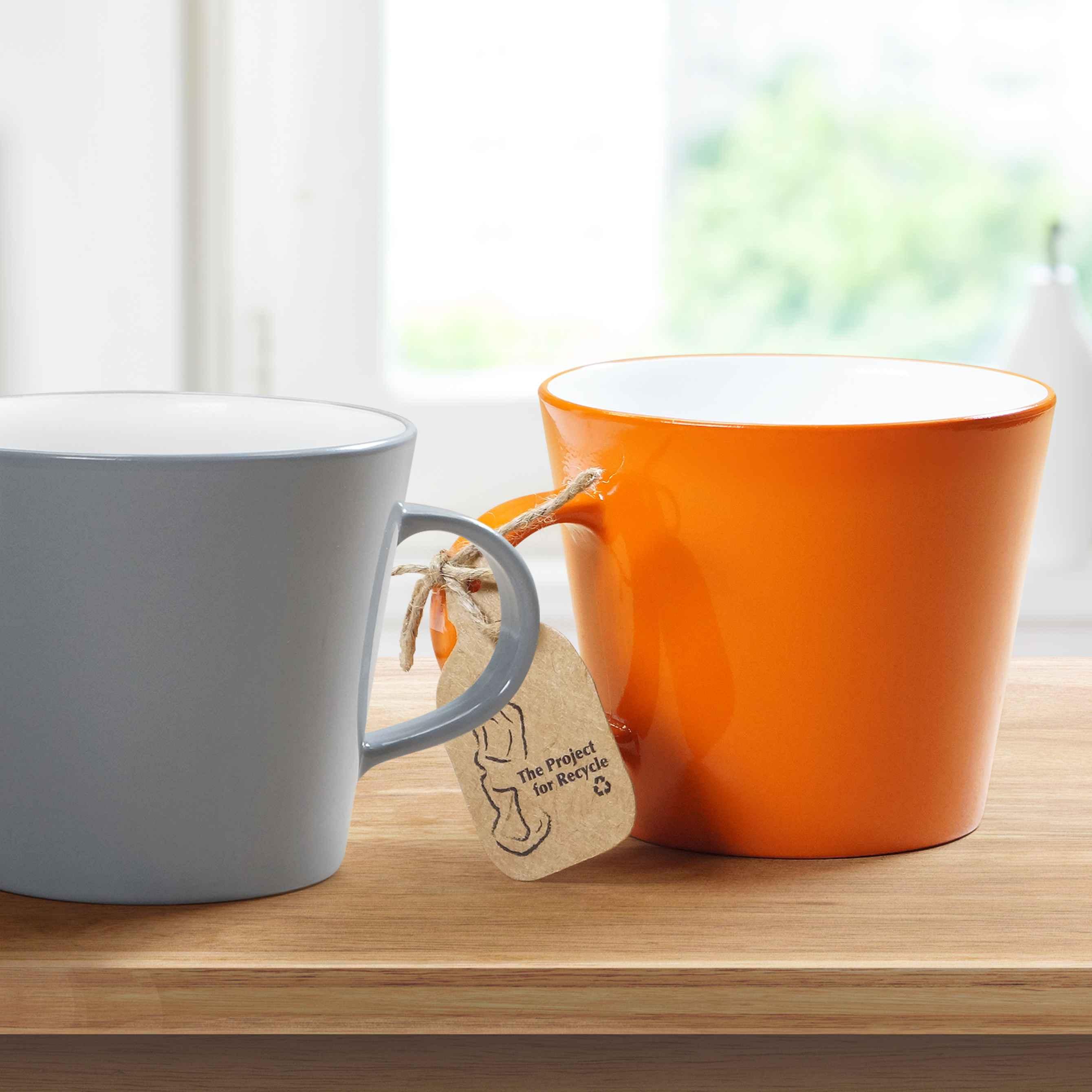 Mug personnalisé en PET recyclé Newlife - orange