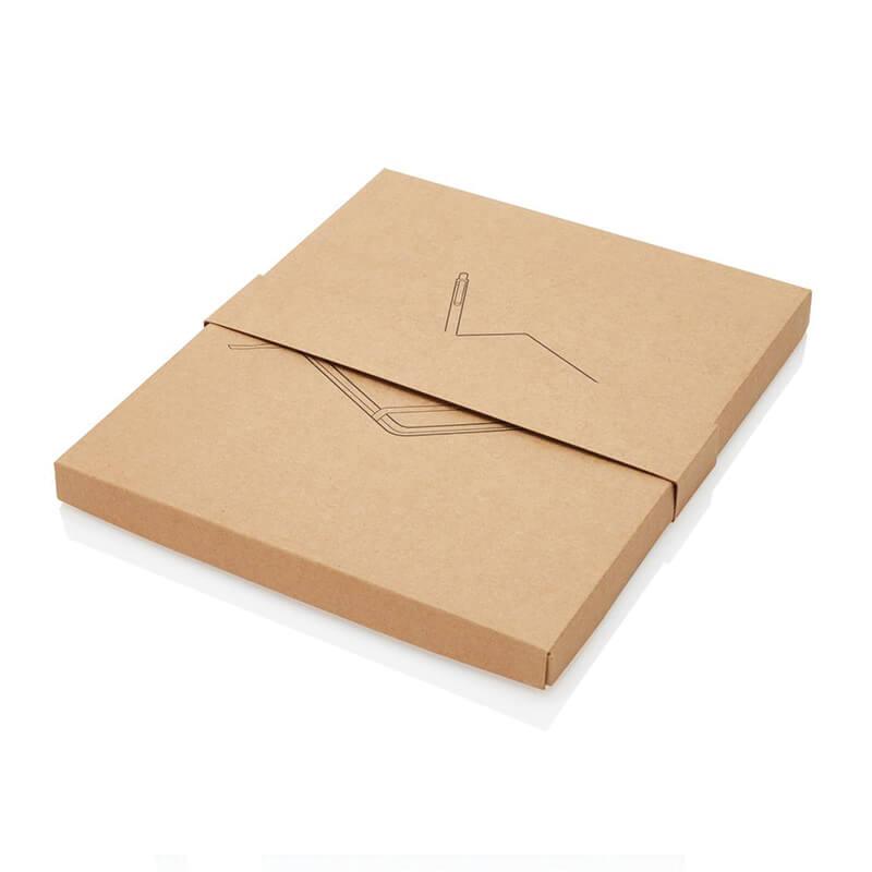 Carnet de notes personnalisable Earth en liège avec stylo en bambou