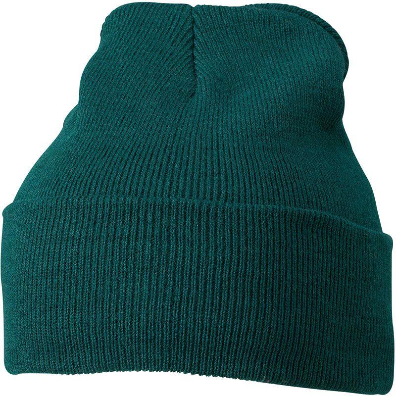 Cadeau publicitaire hiver - Bonnet publicitaire tricot à revers Snow - gris