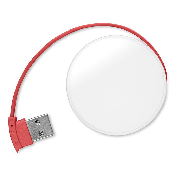 Hub USB publicitaire Roundhub - Objet publicitaire high-tech